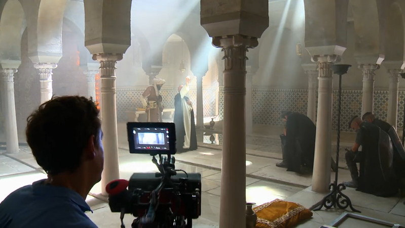 La recreación de La Alhambra en el set de rodaje (Foto 20th Century Fox)