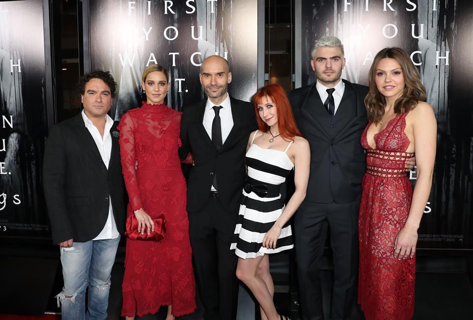 F. Javier Gutiérrez (tercero por la izquierda) en la premiere de 'Rings' en Los Ángeles. Foto: Jonathan Leibson/Getty Imges para Paramount Pictures