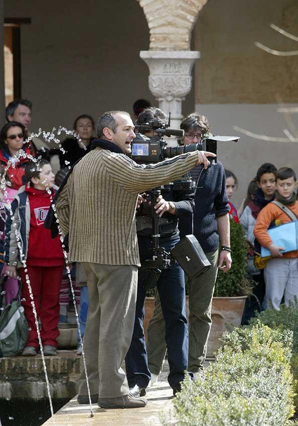 José Sánchez-Montes durante el rodaje de 'Morente sueña la Alhambra'