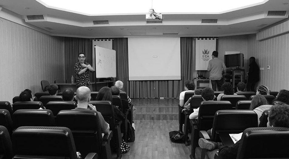Acto de la Escuela de Cine de la Universidad de Cádiz y el Ayuntamiento de Puerto Real