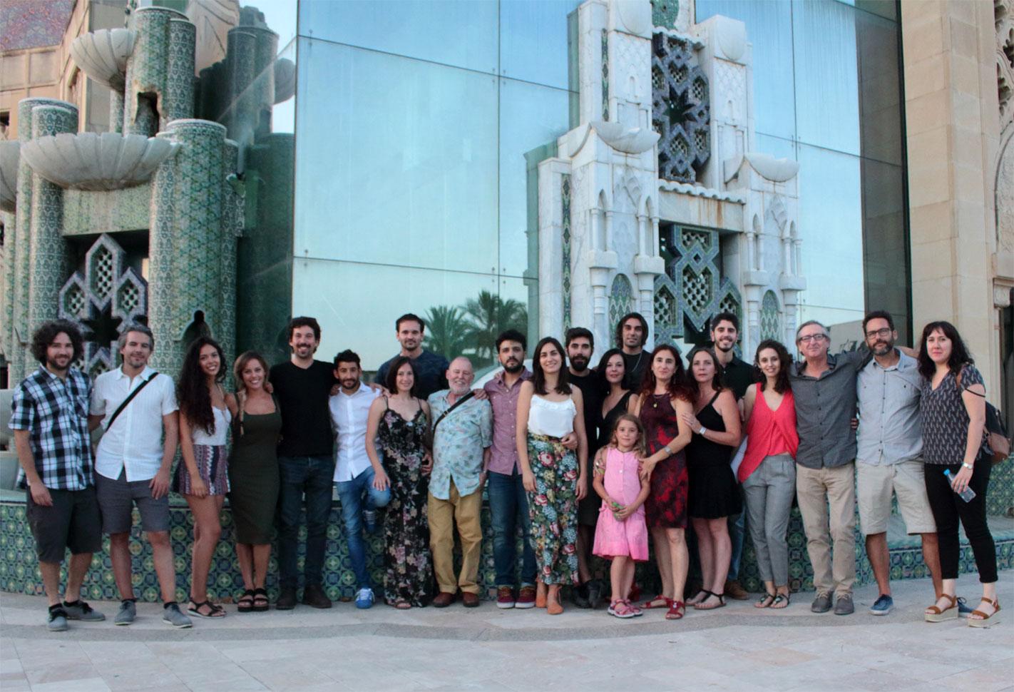Foto de grupo del Laboratorio de Interpretación de Sebastián Haro en la presentación de los cortos realizados por los alumnos