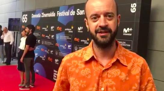Fernando Franco en la presentación en la Academia de la presencia española en el 65º Festival de San Sebastián.