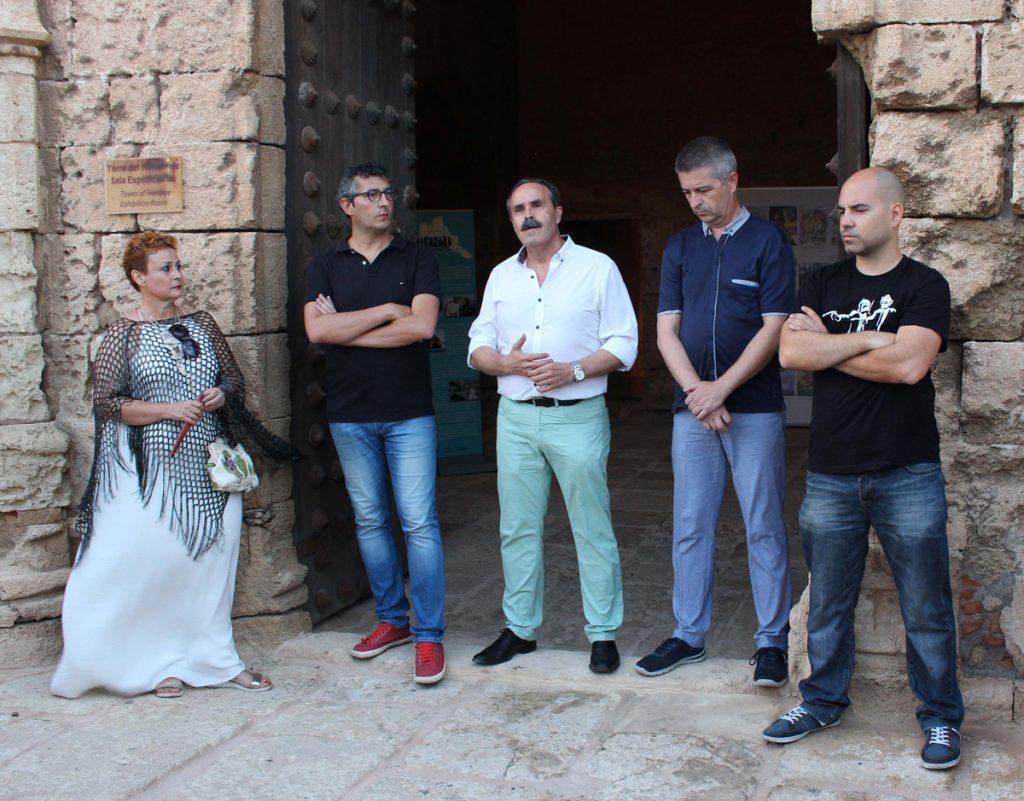 Responsables de la exposición 'La Alcazaba: patrimonio de cine'. Foto: Juan Gabriel García