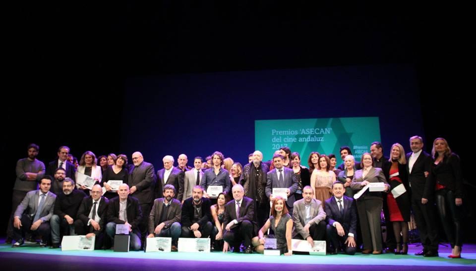 Foto de familia de los Premios ASECAN del Cine Andaluz 2017. Foto: AF Picture