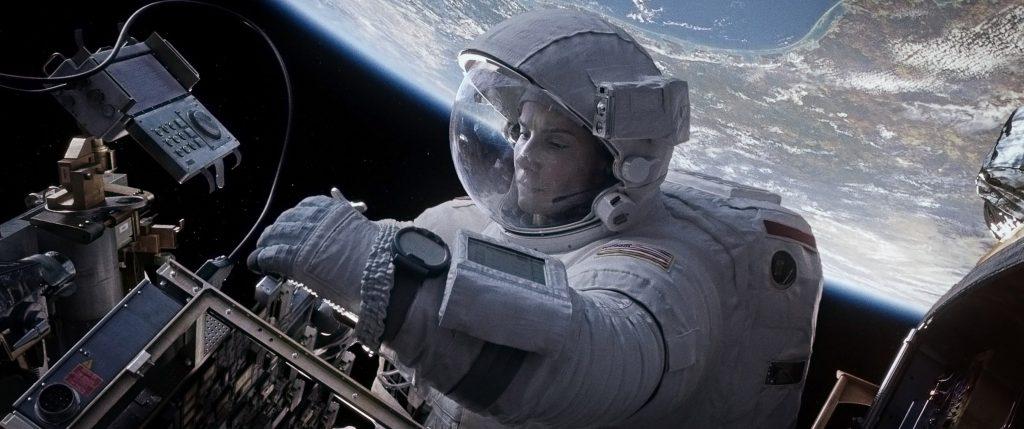 Sandra Bullock en un fotograma de 'Gravity'