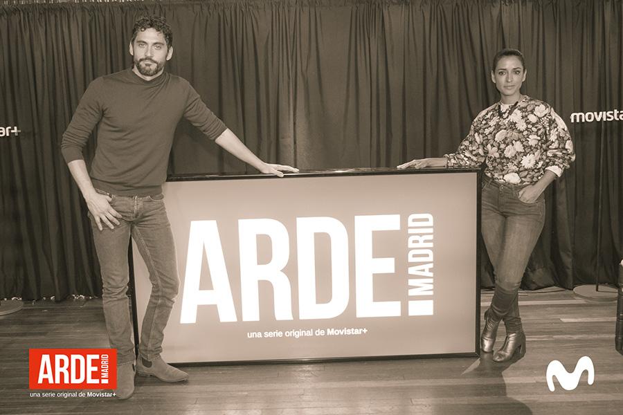Paco León e Inma Cuesta en la presentación de 'Arde Madrid'