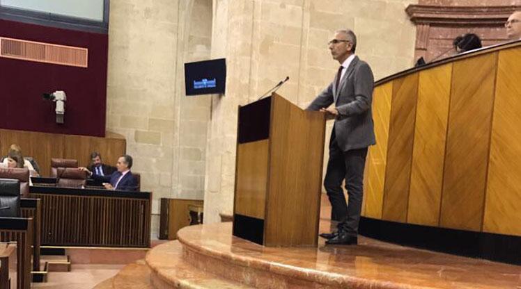 Intervención del consejero Miguel Ángel Vázquez ante el Parlamento andaluz para presentar la Ley del Cine