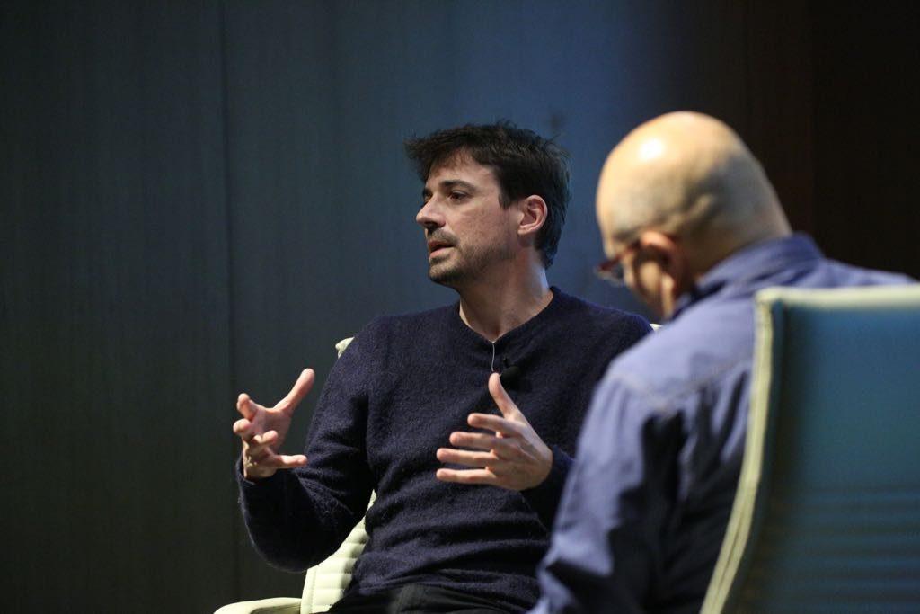Manuel Muñoz Rivas, durante su intervención en Los oficios del cine