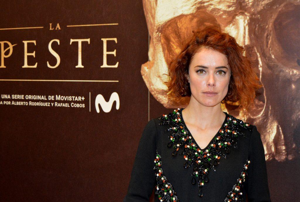 Patricia López Arnaiz durante la presentación de 'La Peste' en Sevilla