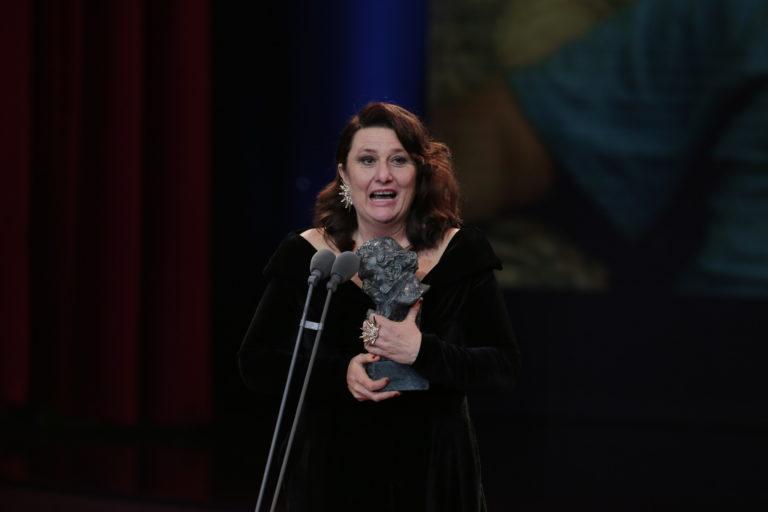 Adelfa Calvo recoge el Goya a la Mejor Actriz de Reparto. Foto: Academia