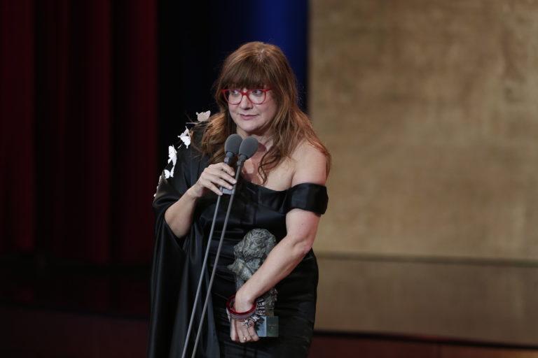 Isabel Coixet recoge uno de los Premios Goya. Foto: Academia