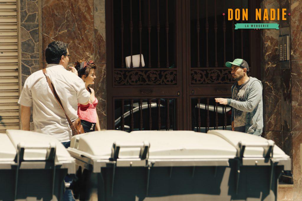 Un momento del rodaje de la webserie 'Don Nadie'.