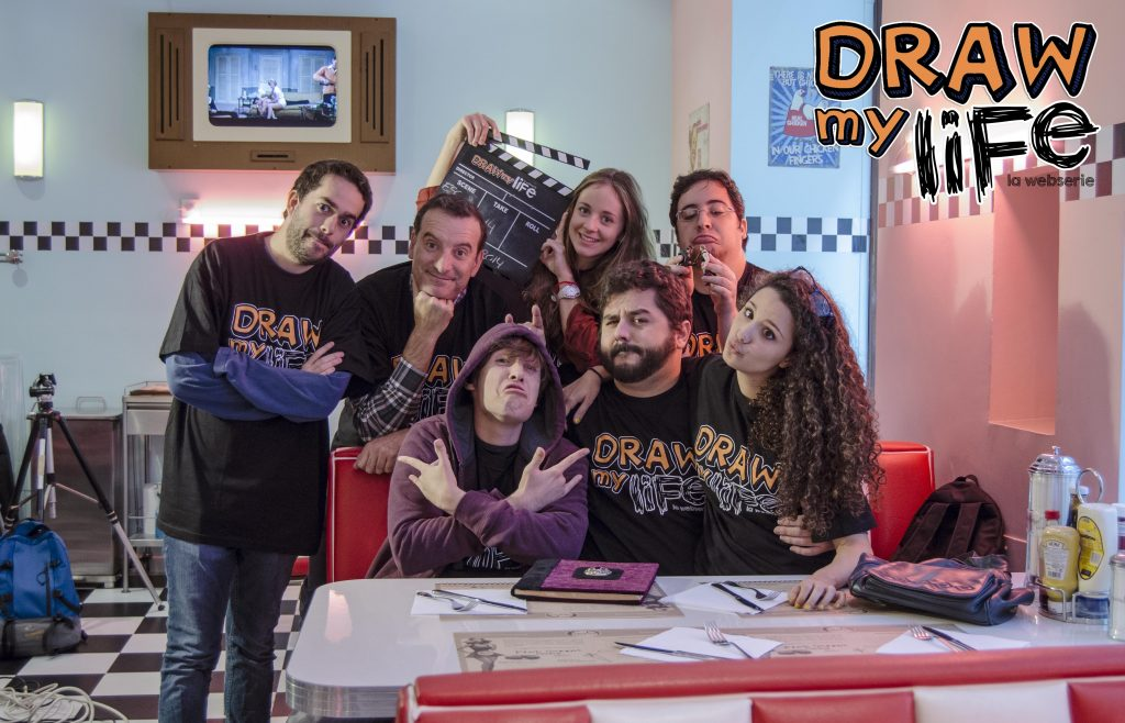 Reparto de la webserie 'Draw my life'