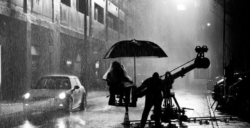 Fotografía de Julio Vergne durante un rodaje.
