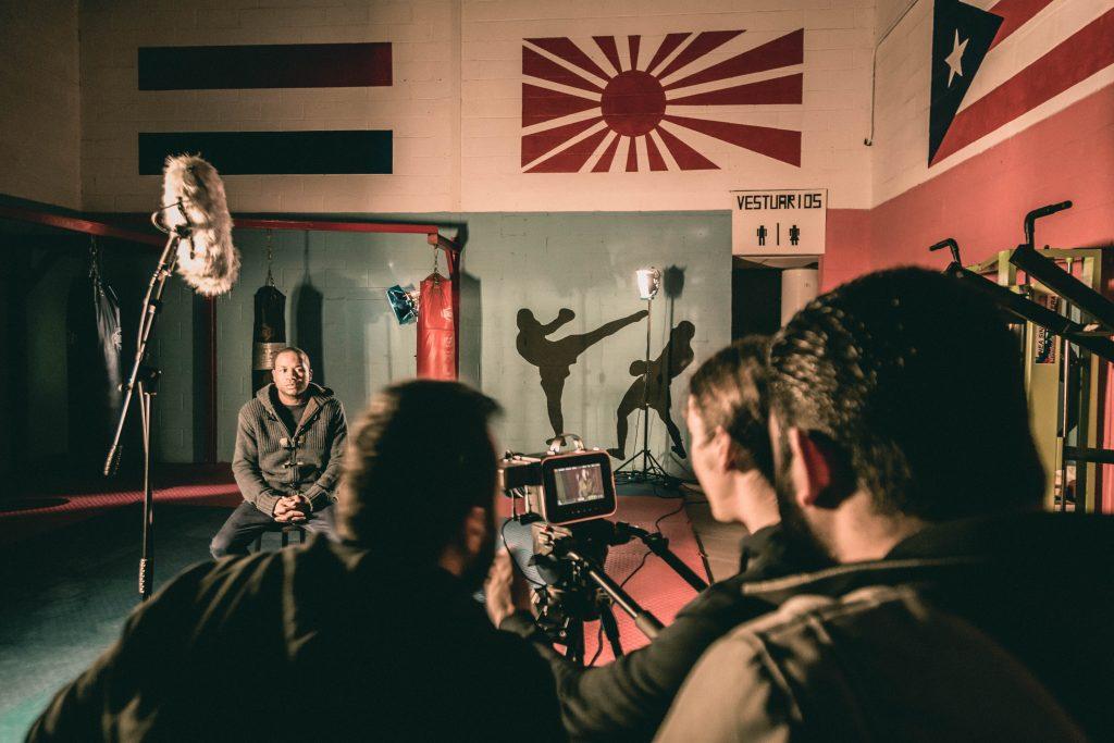 Rodaje de Paco Méndez, una vida en el ring. Autor: Diego Encinas.