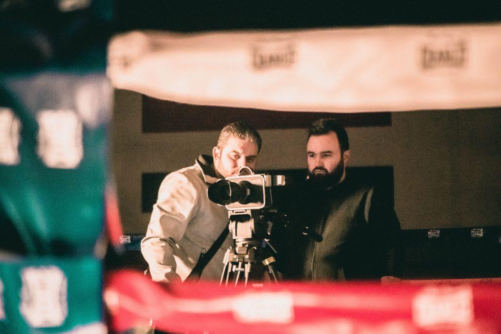 Un momento del rodaje del corto Paco Méndez, una vida en el ring