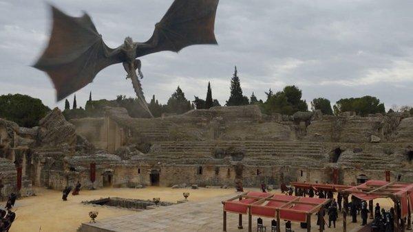Escena de Juego de Tronos en Itálica.