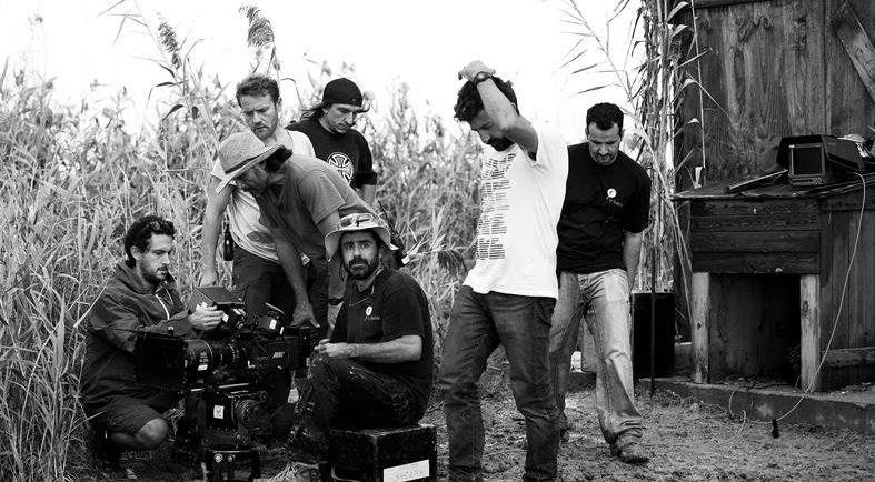 Fotografía del rodaje de 'La Isla Mínima' de Julio Vergne.