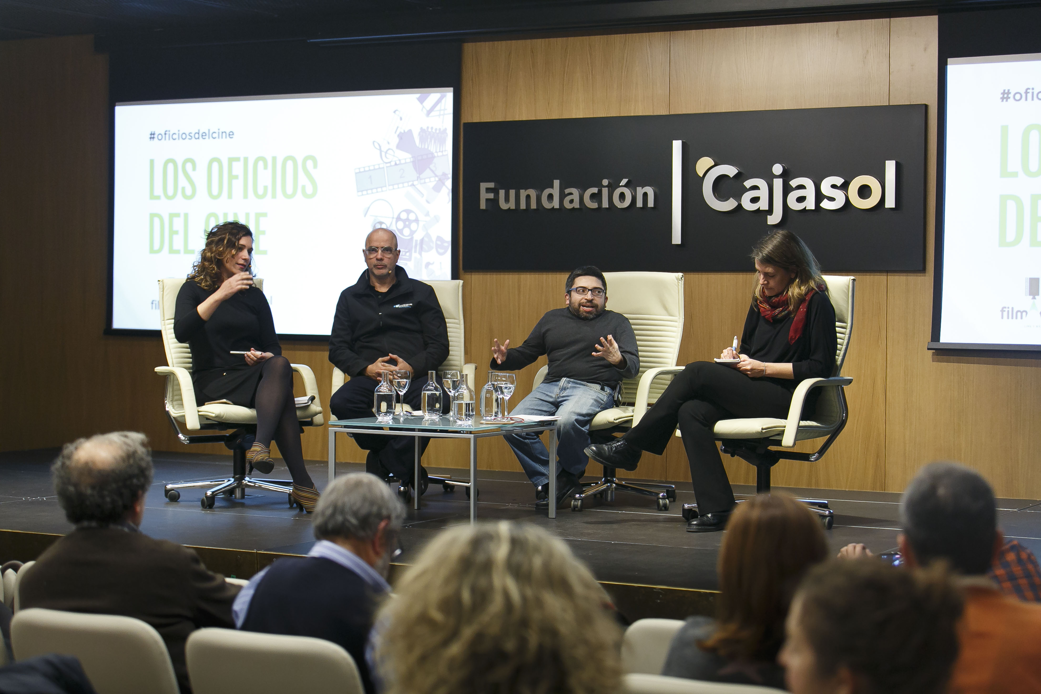 Agus Jiménez, Ernesto Chao, Juan Antonio Bermúdez y Manuela Ocón.