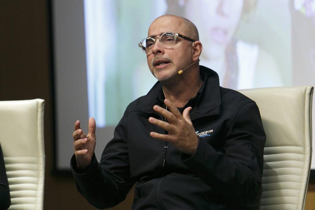 Ernesto Chao durante una de sus intervenciones