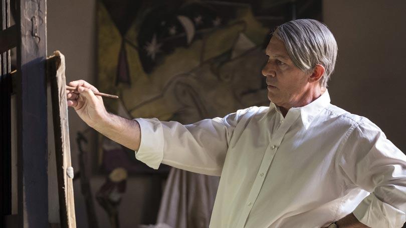 Antonio Banderas caracterizado como Picasso para la serie 'Genius'