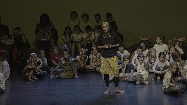 Una actividad para niños durante el pasado Festival de Cine Africano de Tarifa