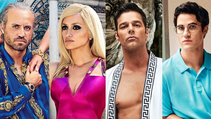 Édgar Ramírez, Penélope Cruz, Darren Criss y Ricky Martin