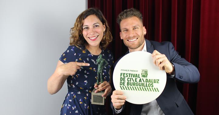 Agus Jiménez y Elías Pérez en el Festival de cine de Burguillos