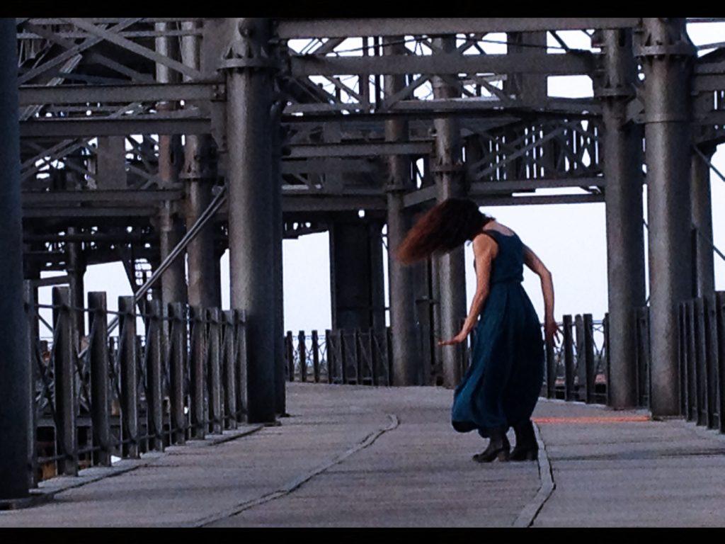 Cristina Rojas durante su coreografía