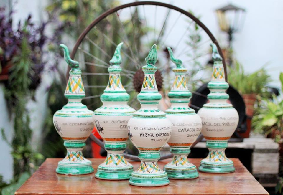 Galardónes de cerámica del festival Cortos por Caracoles