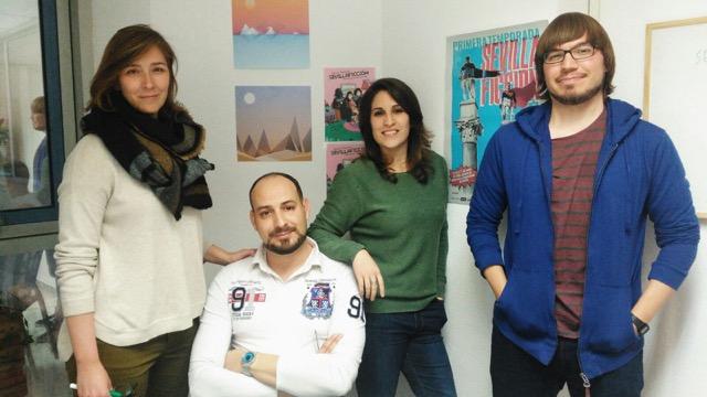 Organizadores del encuentro SevillaFicción.