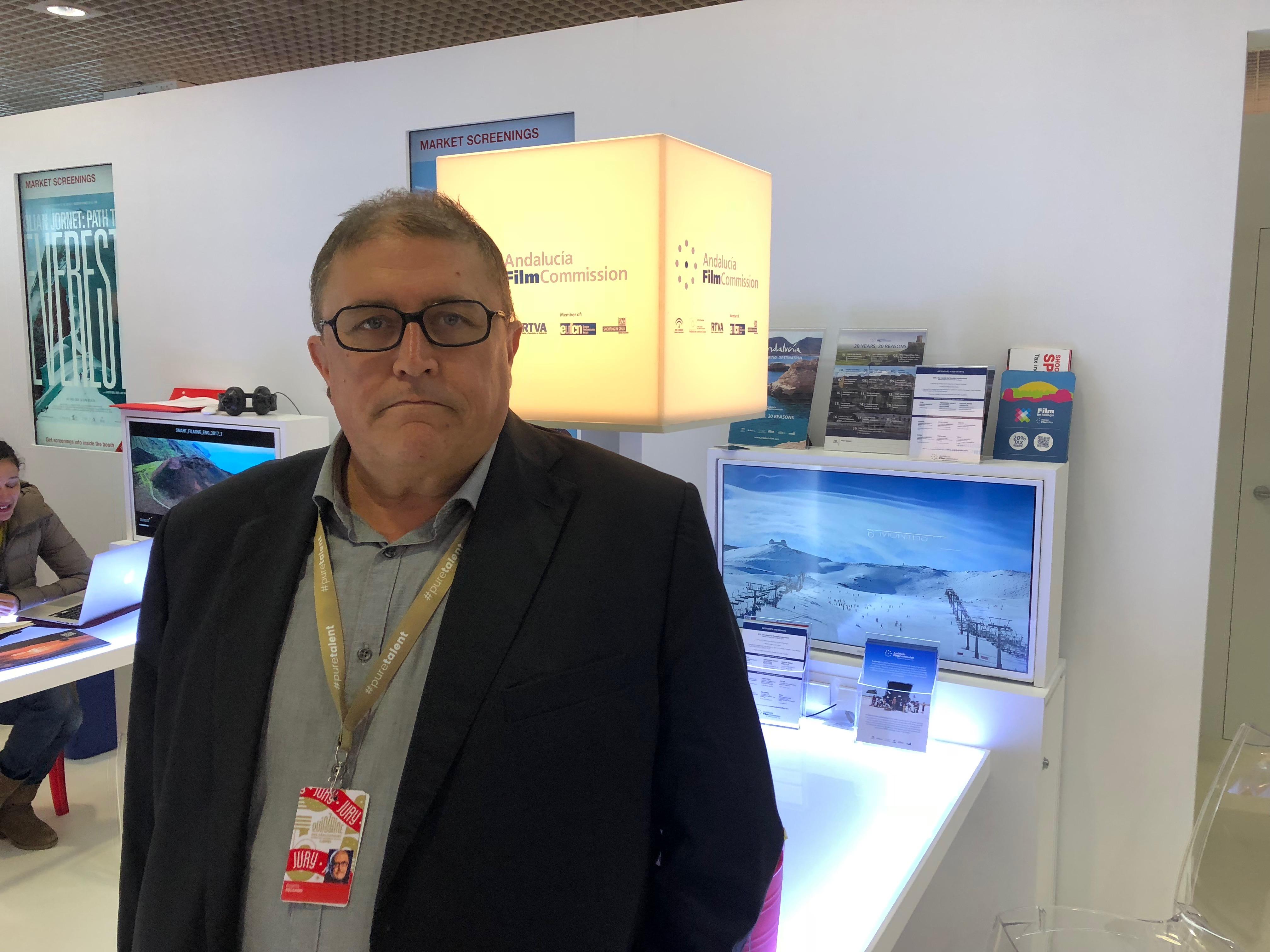 Rogelio Delgado en Cannes.