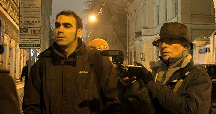 Mario de la Torre durante la grabación de 'La Primavera Rosa' en Rusia.