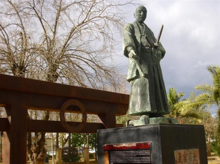 Monumento a Hasekura Tsunenaga en Coria de Río.