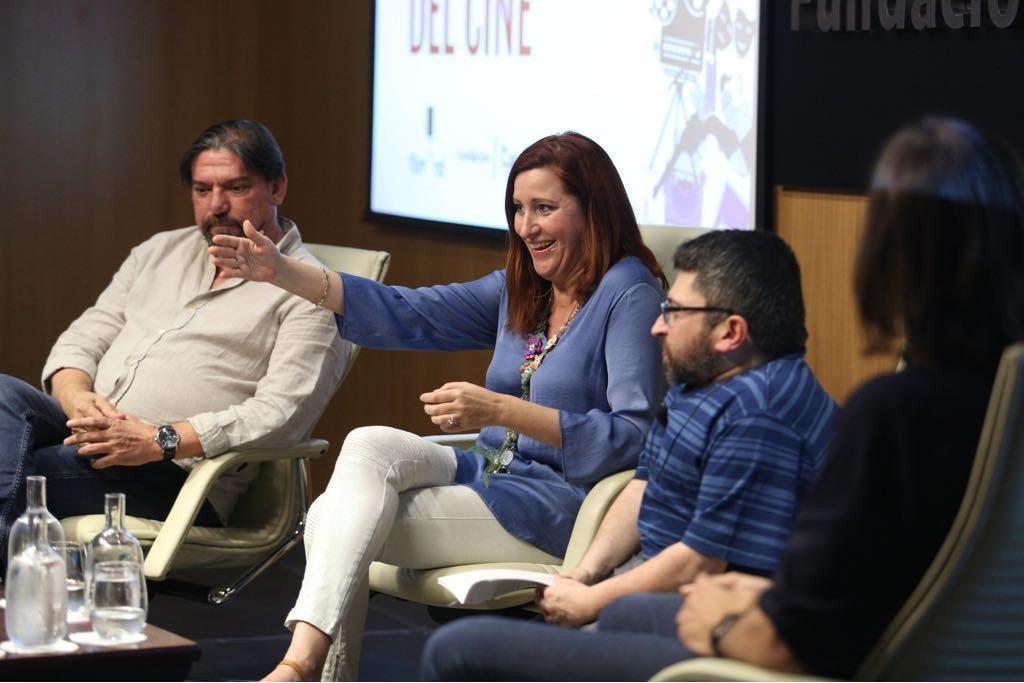 La guionista Ana Graciani durante Los oficios del cine.