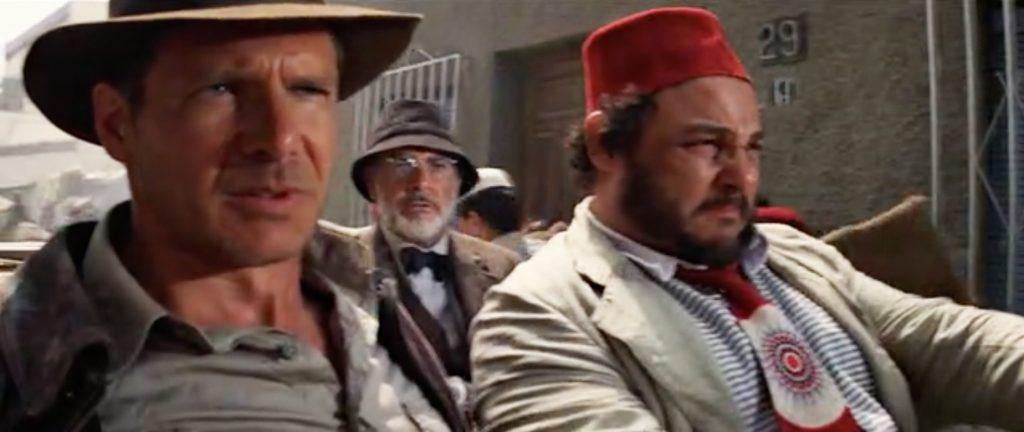 Indiana Jones y La última cruzada en la calle Amanzor con el número 29 a fondo