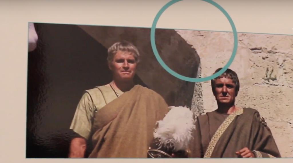 Parte del panel dedicado a Marco Antonio y Cleopatra de la exposición de La Alcazaba