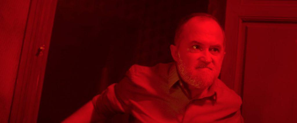 El actor Luis bermejo durante la película 'Ánimas' dirigida pro Laura Alvea y José Ortuño.