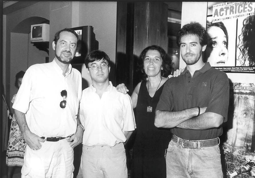 El jurado del Alcances de 1997. José Manuel Marchante, José Manuel Benítez Ariza. Victoria Fonseca,y el cineasta jerezano David Gordon.