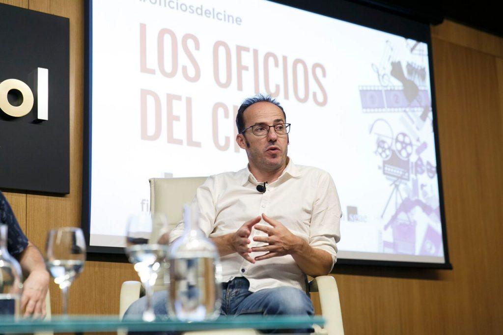 Pablo Cervantes durante su participación en Los oficios del cine.