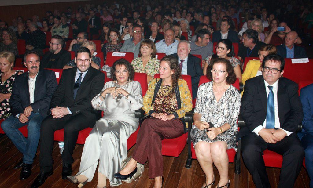 Claudia Cardinale durante en la gala de clausura del Almería Western Film Fetsival.