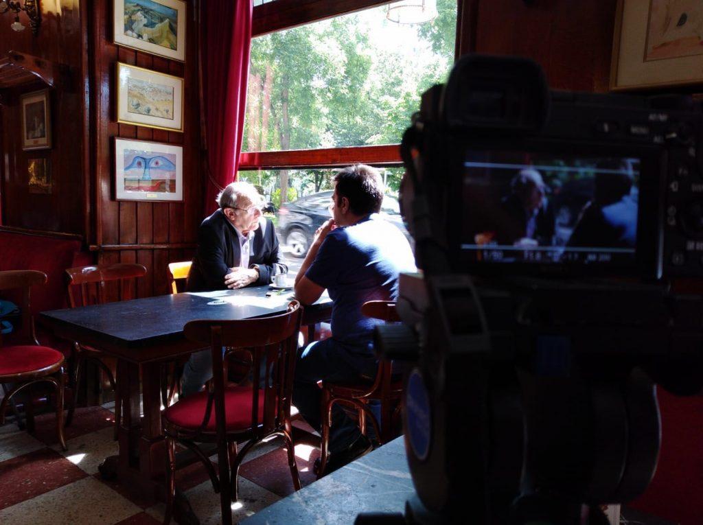 Un momento del rodaje del documental 'La última toma'.