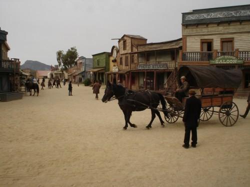 Un poblado de wéstern en el desierto de Tabernas.