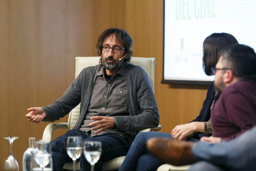 Paco Baños durante su intervención en Los oficios del cine sobre la dirección de cine.