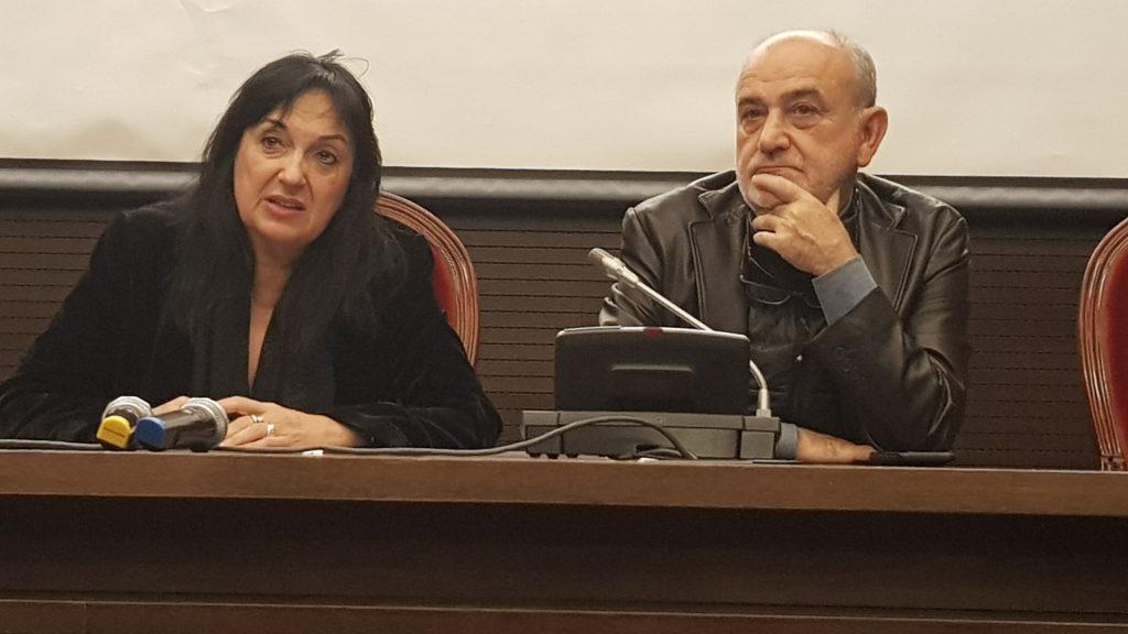 La presidenta de PIAF, Puy Oria, durante la presentación de la federación.