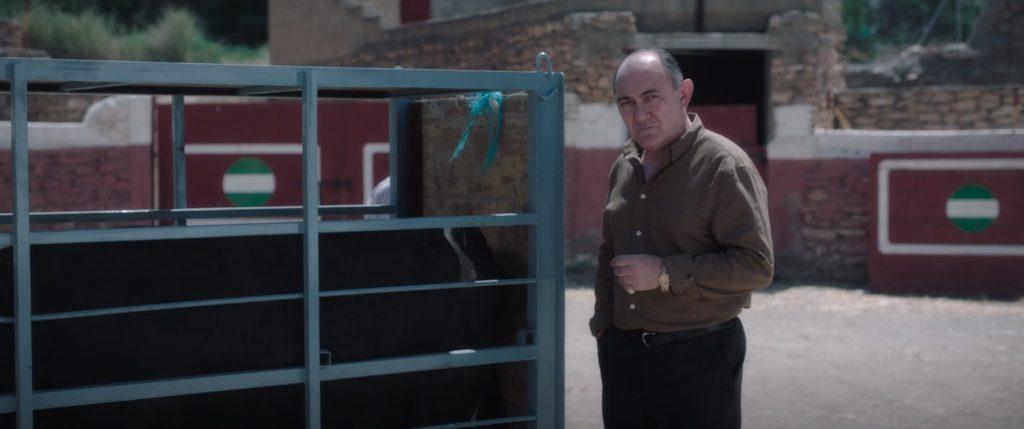 El actor Arturo Querejeta durante su aparición en la serie 'Fenix'.