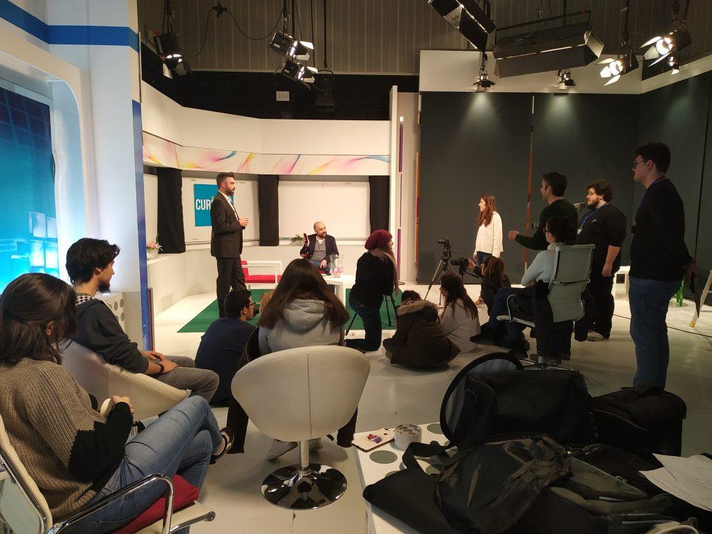 Los estudiantes del IES Auringis de Jaén, ruedan la webserie 'Un tipo con clase'.