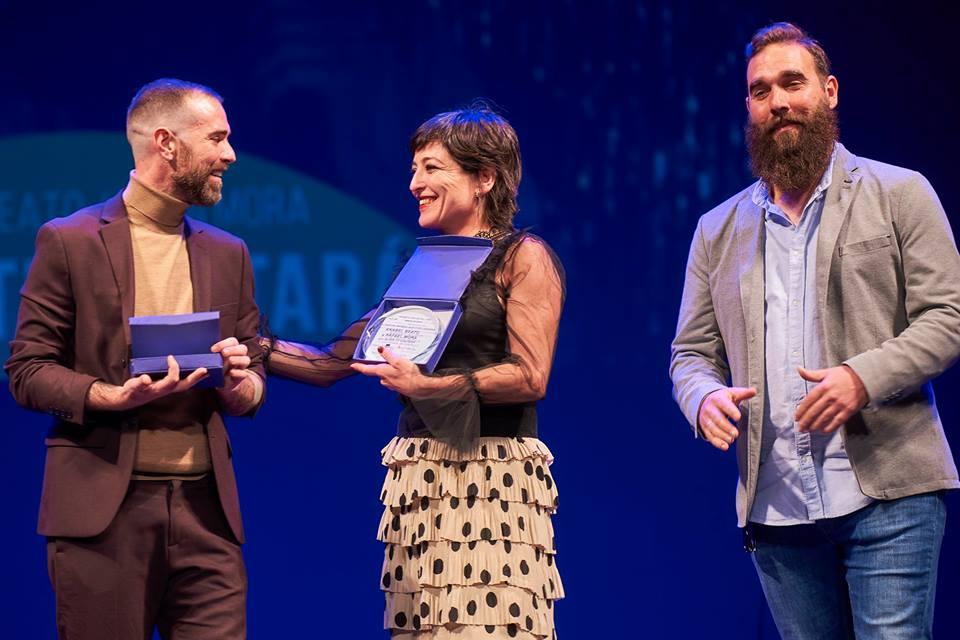 Anabel beato y Rafa Mora durante la gala de los Premios Asecan.