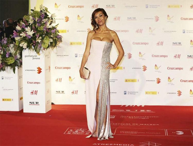 Mercedes Hoyos en la alfombra roja del Festival de Málaga