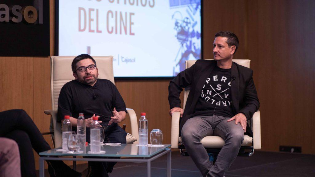 El productor José Alba junto al crítico Juan Antonio Bermúdez.